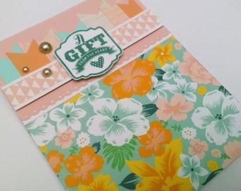 Gift Card Holder for Birthday, Gift Card Holder for Retirement, Gift Card Holder for Housewarming, Gift Card Envelope, Tropical Floral Card