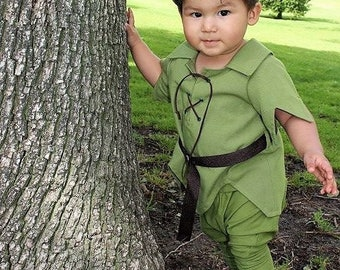 """Peter Pan Toddler SZ 12mo, 18mo, & 2T-4T Adorable  Costume, """"The New Version"""" for Toddlers"""
