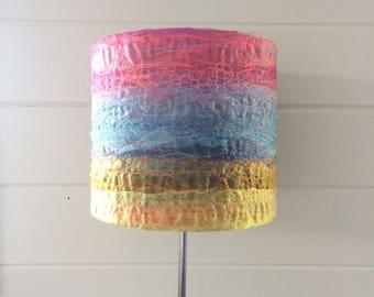 Sunset lampshade ~ handmade lampshade ~ 20cm round lampshade ~ home decor