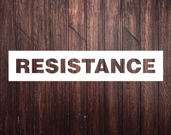 RESISTANCE - Car Decal, laptop decal, window decal