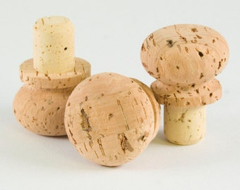 Cork Stopper with Rounded Cork Cap