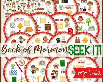 Book of Mormon SEEK IT Match Game, Primary Printables, Family Game Night, FHE, Sharing Time Games - Printable Instant Download by Lisa