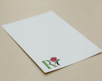 Personalised Letter Stationery - R is for Rose