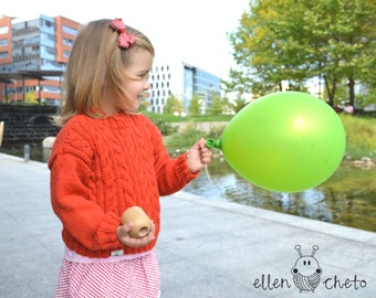 Red or green stylish merino wool sweater for kids