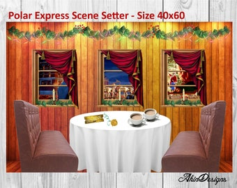 Polar Express Scene Setter size 40x60