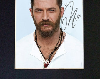 TOM HARDY Mounted Signed Photo Reproduction Autograph Print A4 580