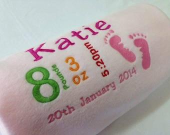 Birth date baby blankets