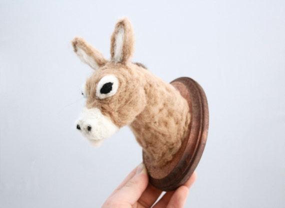 Felted Wool Donkey