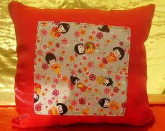 Handmade cushion Japanese dolls