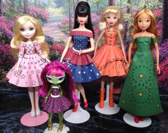 Stella Printable Doll Clothes - Paper Dresses that fit Barbie, Winx Club and more!