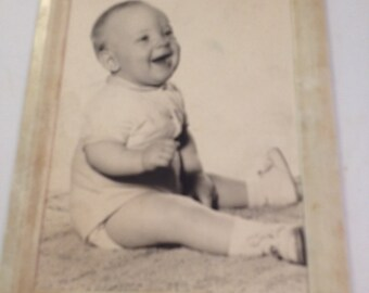 Beautiful Laughing Baby Boy Photo, Vintage Baby Boy Photo, Vintage Photo, Vintage Infant Photo, Beautiful Baby Photo, Antique Baby Photo