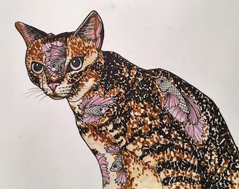 Betta Cat Print