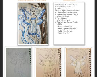 Drawing Tutorial |Frost Faery|PDF Tutorial| How To Draw|Step-by-step