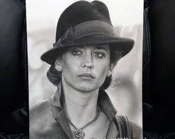 Original Drawing of Eva Green as Vesper Lynd in Casino Royale (NOT a print)