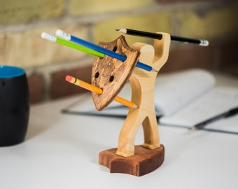 art pencil holder,wooden pencil holder,modern pencil holder,kids pencil holder,crayon pencil holder,fun pencil holder,wood pencil holder