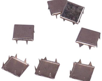 Metal Square Vintage Studs - 12mm (MS12SS)