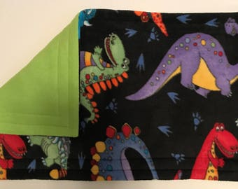 Guinea pig 1 x 2 Grid Tidy mat in Dinos with lime green