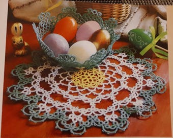Tatted doily pattern in the Moje Robótki magazine (2/2018)