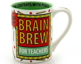 Teacher mug, funny mug for teacher. gift for teacher, Brain Brew, male teacher gift
