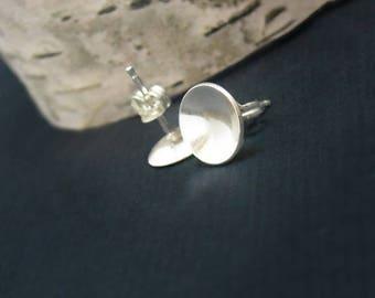 Large Circle Sterling Earrings - Free Shipping, sterling earrings, silver earrings, silver studs, post earrings