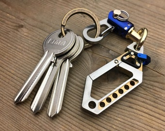 Ti-Drone Carabiner Keyring / with  New Ti-Swivel-II