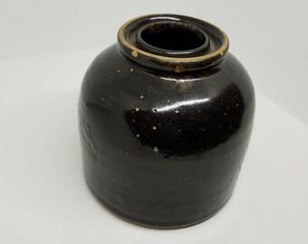 Brown Stoneware Jar