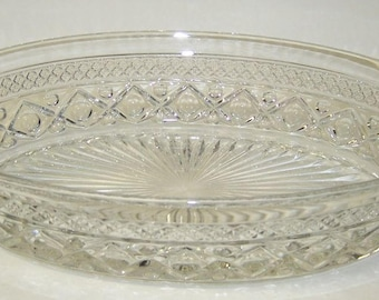 Imperial Glass Crystal CAPE COD 11 Inch Oval Serving BOWL