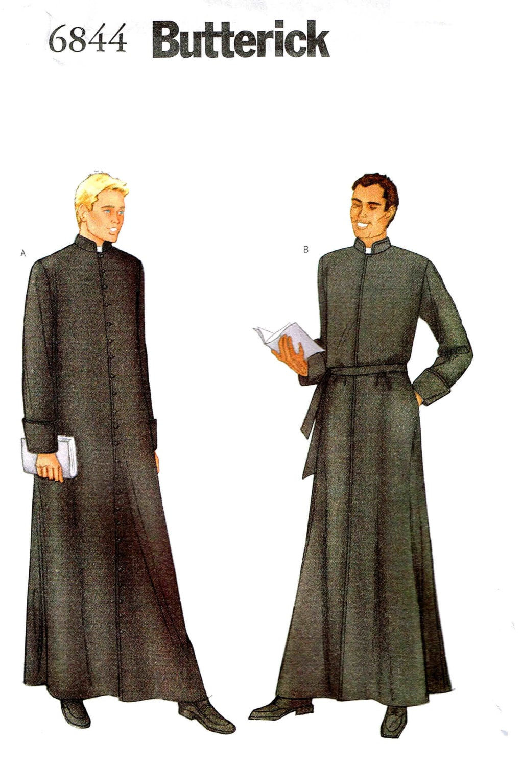 Sewing pattern mens religious cassock priest robe clergy zoom jeuxipadfo Images
