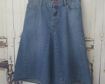 90s Women's Denim skirts,  NY New York co// Womens size 8 10 waist 32
