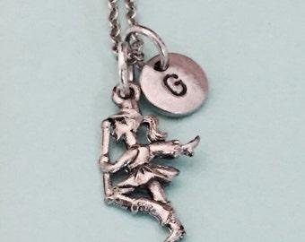 Baton twirler necklace, baton twirler charm, baton twirling, personalized necklace, initial necklace, initial charm, monogram