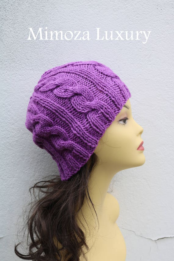 Lilac women's Beanie hat, Hand Knitted Hat in lavender beanie hat cap, knitted men's, women's beanie hat, winter beanie, purple ski hat