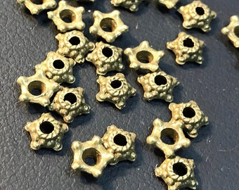 Bead Caps, Antique Bronze, 5mm Wide,  100 or 300 Pieces, Findings, Supplies, Beading, Jewelry Making