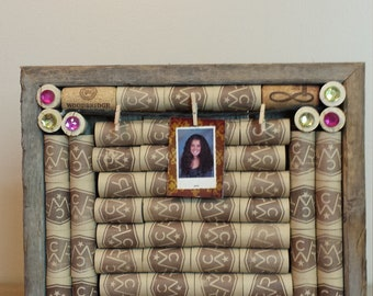 Framed Wine Cork Board