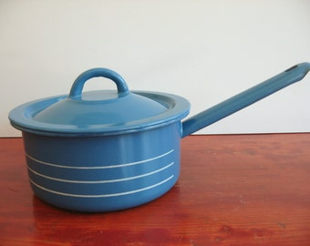 Clearance ! Vintage Made In Poland Enamel Casserole.
