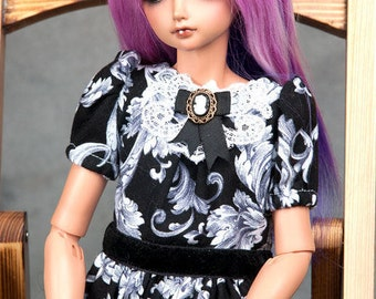 """Ready to ship! Gorgeous dual colour alpaca wig with ombre effect for msd or other doll with 7-8"""" head"""