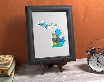 Michigan Photo Map