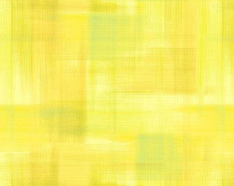 SALE - Yellow Brushed Ombre from the Jardinier Collection by Jennifer Brinley for Studio E Fabrics, Yellow and Green Ombre