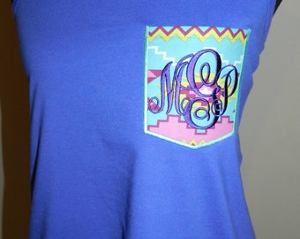 Monogrammed Pocket Tank Top