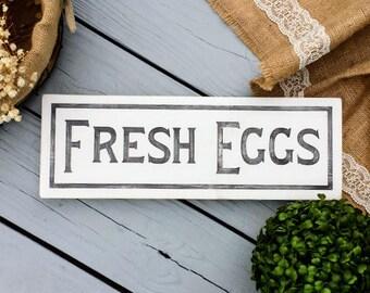 5x16 Fresh Eggs Wood Sign - Market Sign - Farmhouse Sign - Farmhouse Decor - Farmhouse Kitchen - Fresh Eggs Sign - Wood Sign - Kitchen Sign