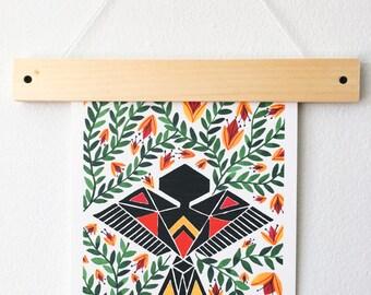 Spring Sparrow Art Print - Nature Art Print - Bird Artwork
