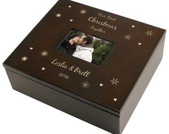 Engraved Snowflake Keepsake Box