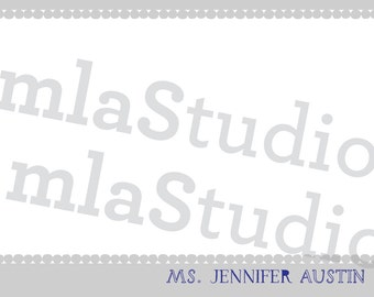 Personalized Stationery - Dotted Border
