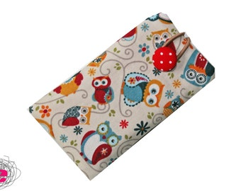 Smartphone case owls, cellphone pouch owls
