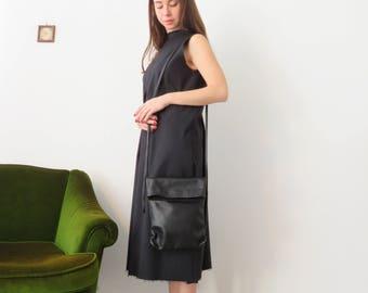 Black Crossbody Bag, Leather Crossbody Bag, Cross Shoulder Bag, Leather Crossbody Purse, Black Crossbody Purse, Fold Over Bag, Evening Bag