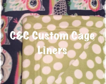 CUSTOM  Guinea Pig Cage Liners with 2 layers of UHAUL