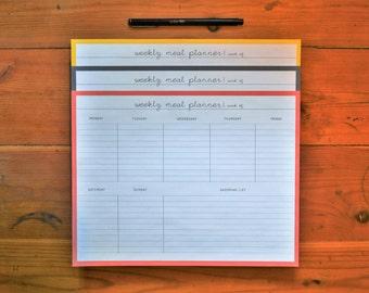 Meal Planner, Planner Printable, Weekly Meal Planner, Grocery List, Healthy Habits, Instant Download