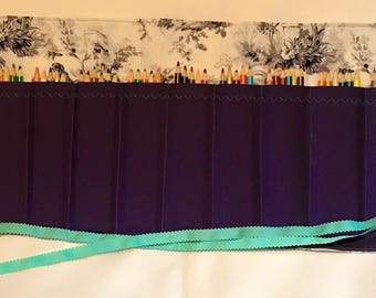 Vintage Purple Colored Pencil/Marker Roll