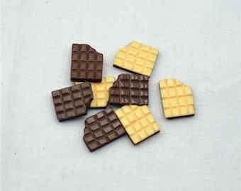 12*17mm resin chocolate flat back dessert food cabochon crafts for decoration