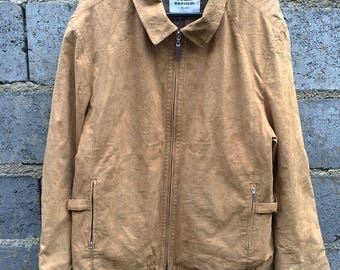 Vintage Maurizio Baldassari Milano Brown Suede Jacket Size Medium