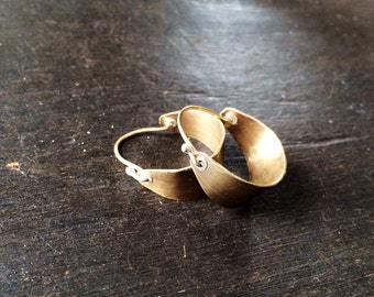 Small Brass Hoops